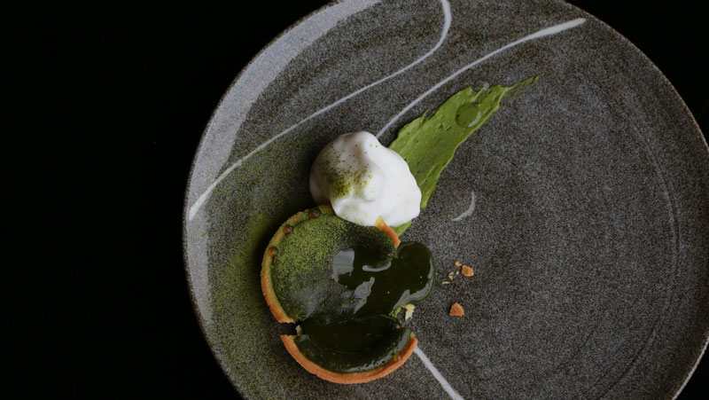 The Tsujirihei green-tea tart is Janice Wong's signature dessert