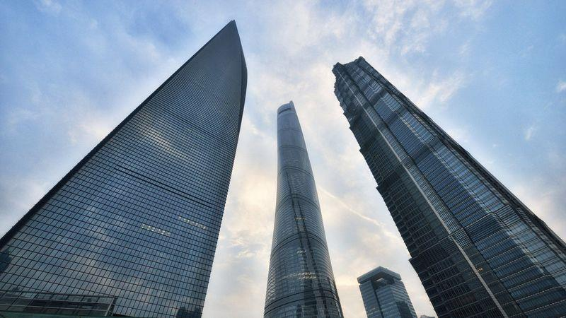 The Shanghai Tower, Shanghai World Financial Center and Jin Mao Tower