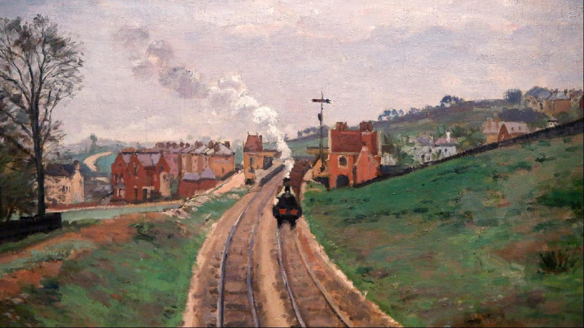 'Lordship Lane Station, Dulwich' by Camille Pissarro (1871)