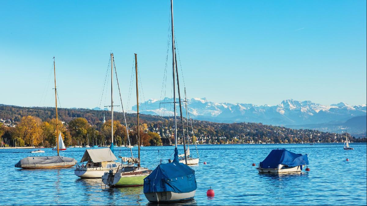 Lake Zurich and the Alps