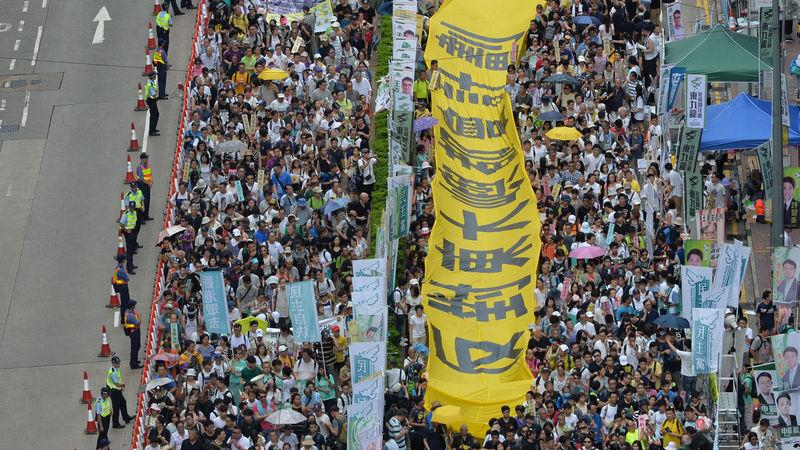 Hong Kong's annual July 1 pro-democracy march
