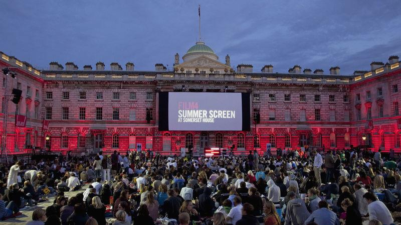 Open-air cinema at Somerset House