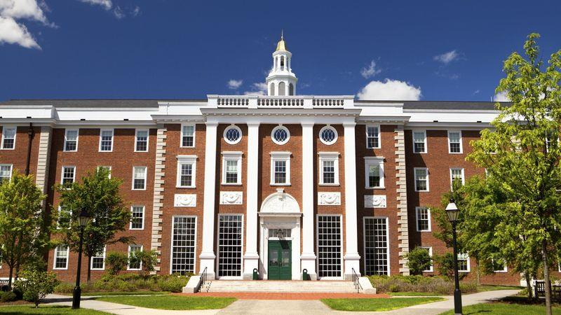 Harvard Business School, on the Boston side of the river Charles
