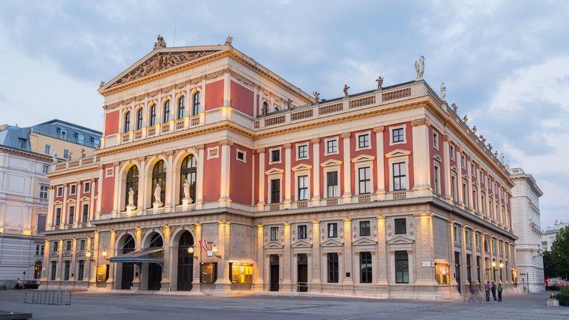 The world-renowned Musikverein concert hall