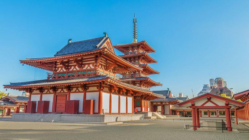 The 1,400-year-old Shitennoji, Japan's first official Buddhist temple