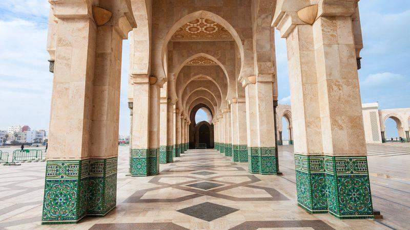 The vast Hassan II mosque is Africa's second-largest