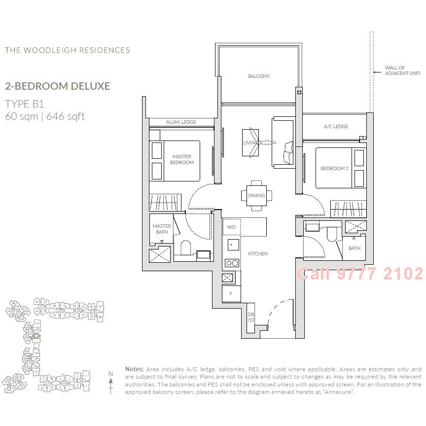 For Sale The Woodleigh Residences 2 Rms Deluxe Balcony 2 Baths Facing Lake Woodleigh Mrt Mrt District 13 Potong Pasir Singapore Propgo