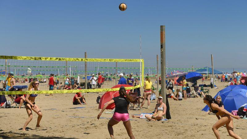 Woodbine Beach is the best spot in Toronto for beach volleyball