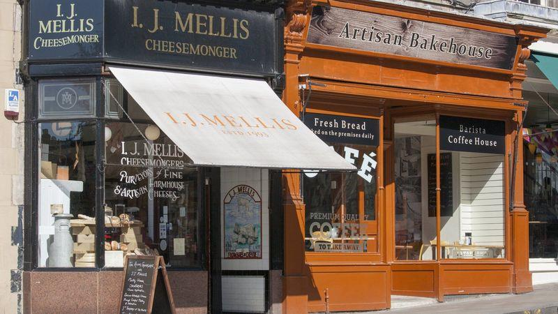 Traditional independent shops in Stockbridge