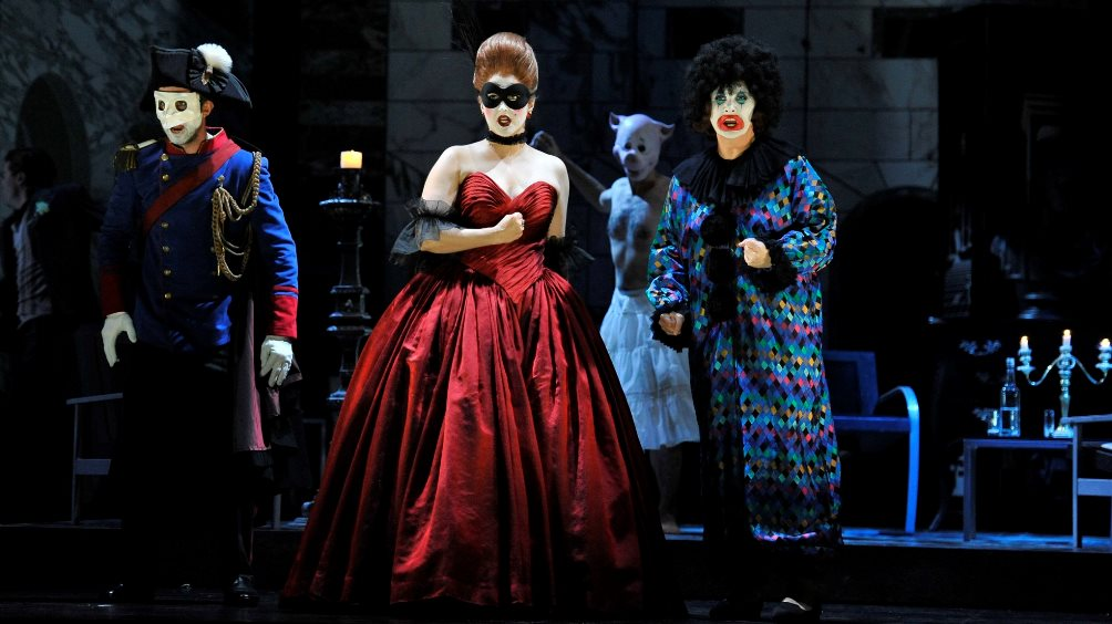 A performance of Mozart's Don Giovanni at Glyndebourne in 2016