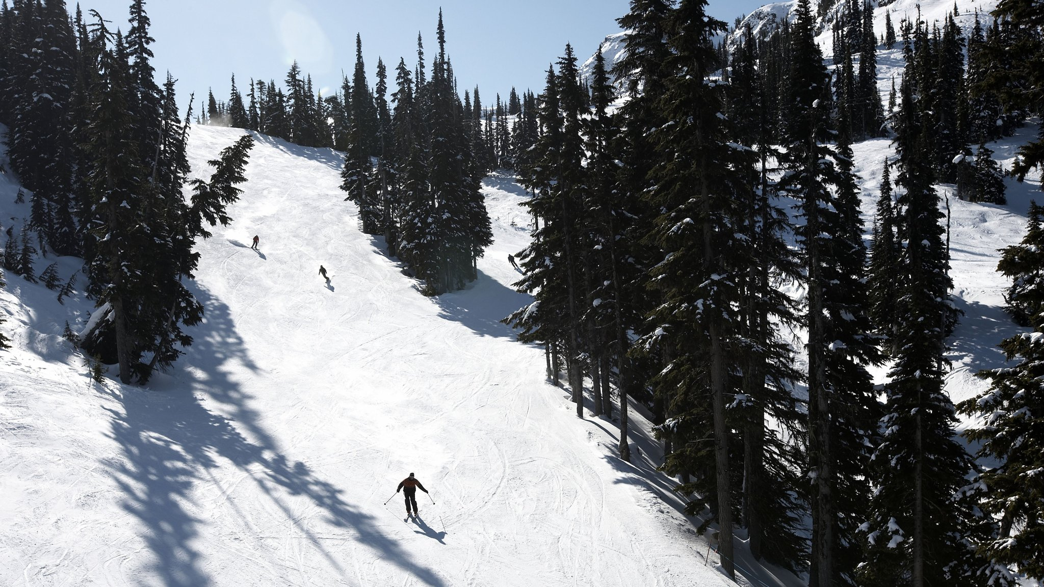 The ski resort of Whistler is about 90 minutes' drive from Vancouver