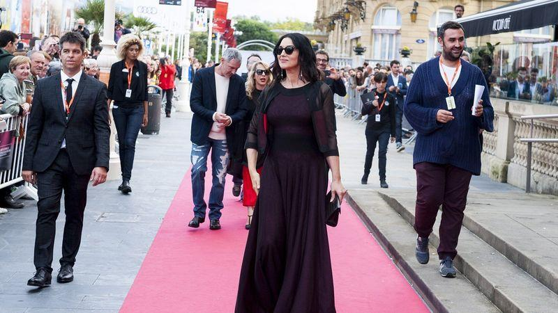 Monica Bellucci on the red carpet during the 2016 San Sebastián film festival