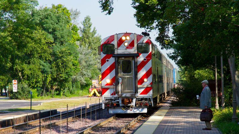 The Green Bay Trail runs parallel to the city's Metra North commuter rail line