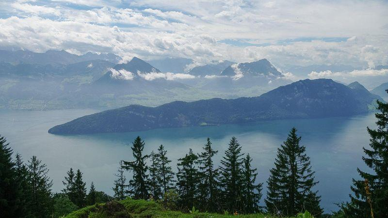 View of Lake Lucerne from the Rigi