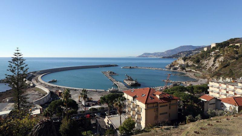 A new marina is being built in Ventimiglia