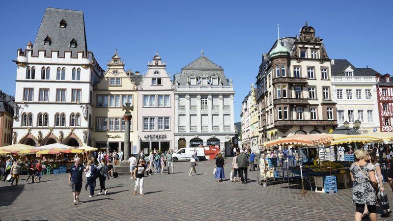 Trier in Germany is an hour's drive away