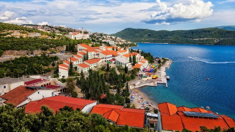 The seaside town of Neum