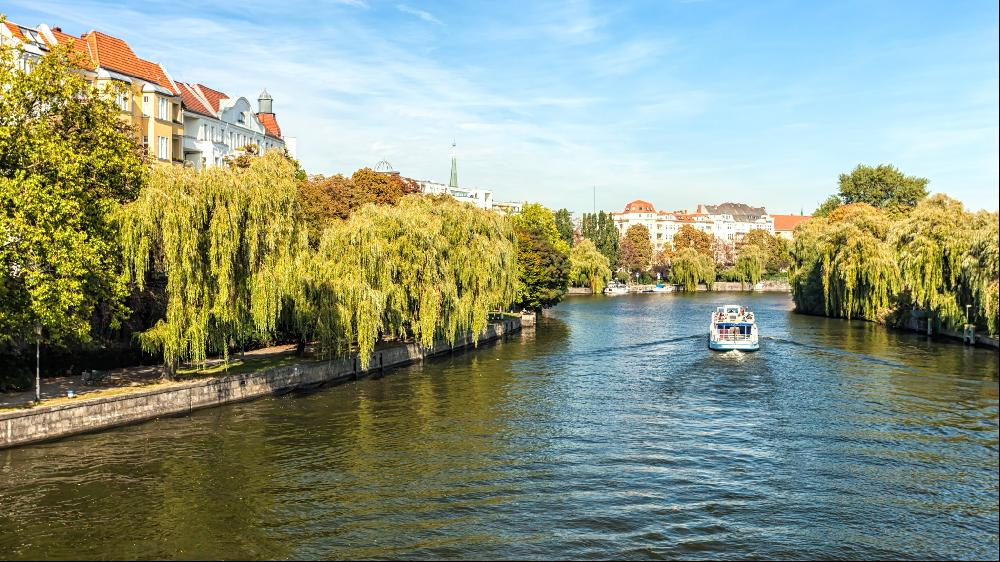 The River Spree flows through the German capital
