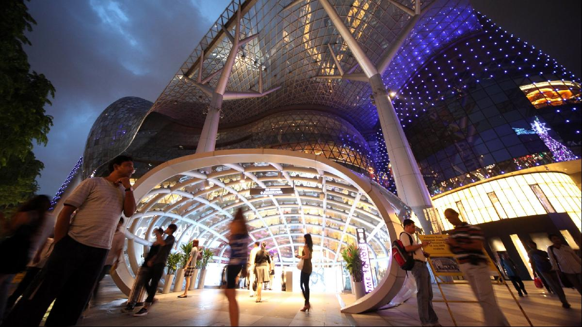 Spenders beware: a shopping mall on Singapore's Orchard Road
