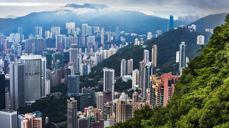 Hong Kong, where property prices have soared