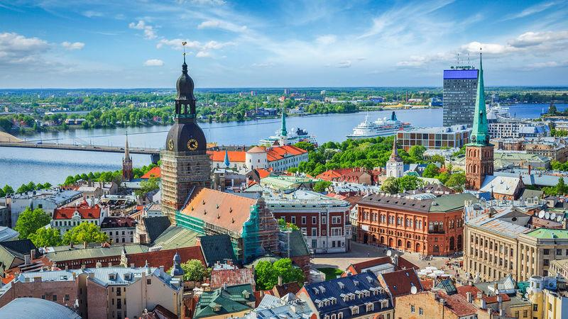 Riga, Latvia. The country has seen double-digit year-on-year house price rises