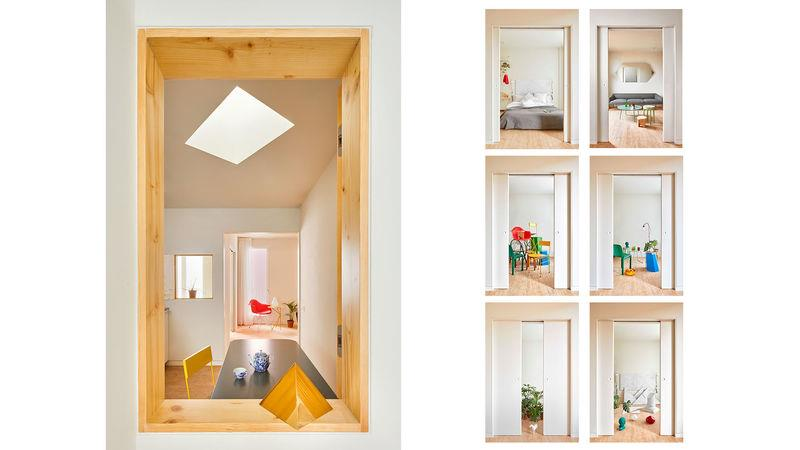 The rooms flow into each other with no circulation spaces