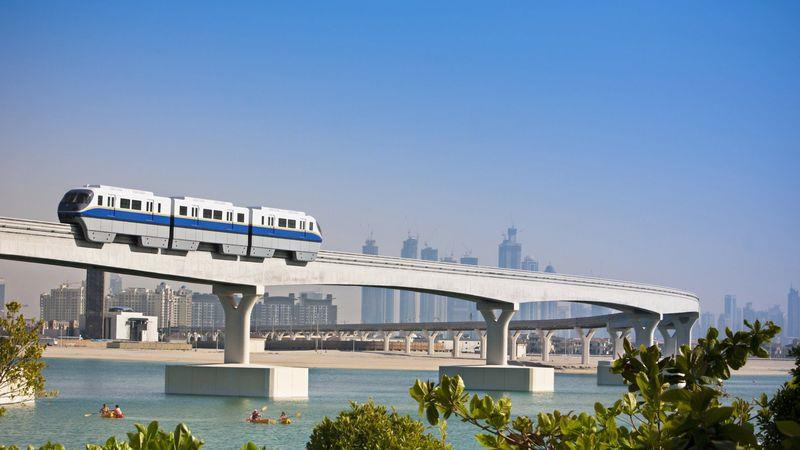 This monorail is part of Dubai's modern public transport system