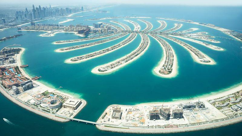 Palm Jumeirah, an artificial archipelago off the Dubai coast