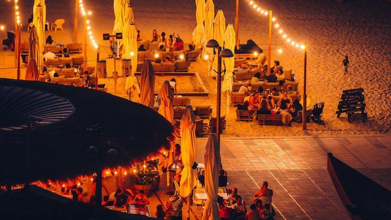 Dining on the beach is popular in the evenings