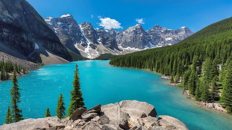 Banff National Park is a draw for skiers and hikers