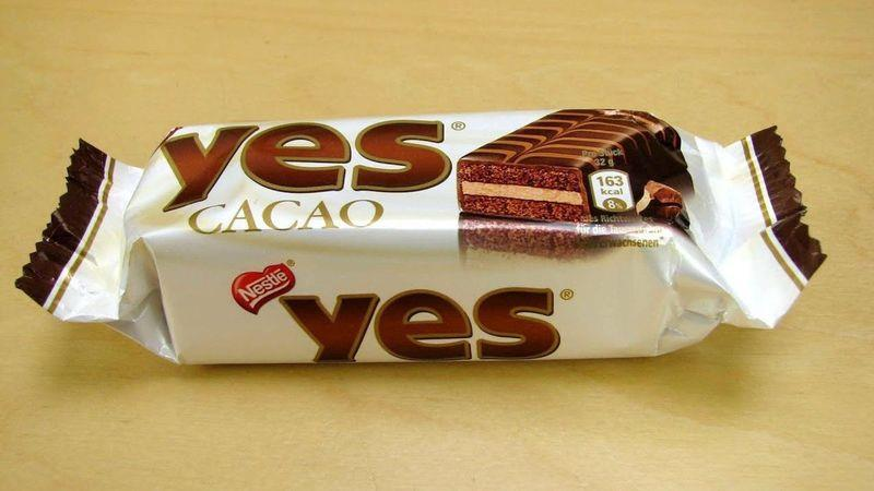 The Yes cake bar, the first exposure to English for many a young French person