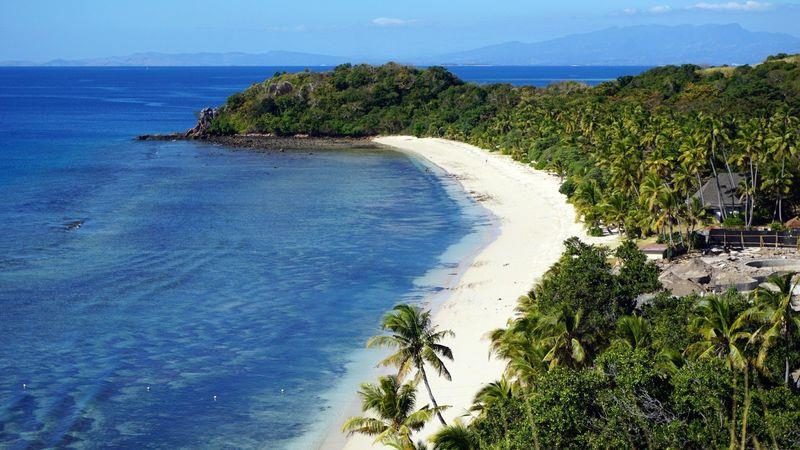 One of the fine beaches in the Yasawa Islands