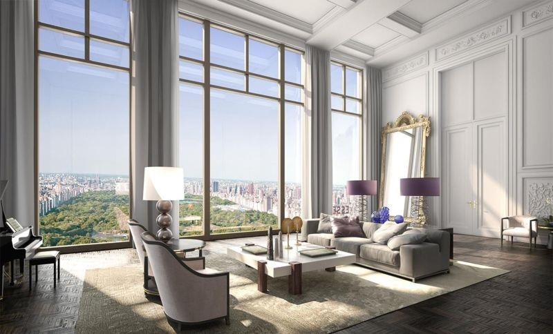 living room Penthouse  220 Central Park South
