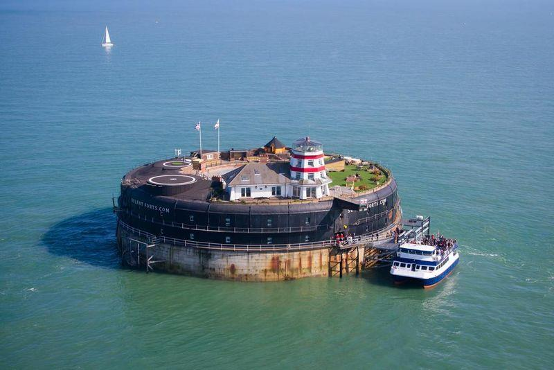 island fort off the Hampshire coast