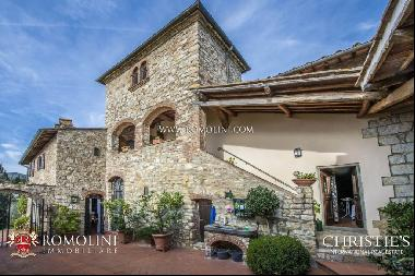 Chianti - STONE HOUSE WITH OLIVE GROVE FOR SALE IN GREVE IN CHIANTI