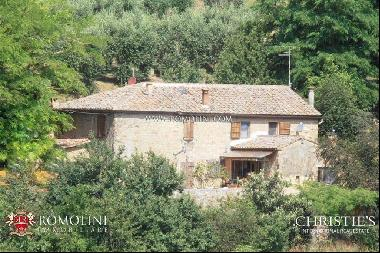 Tuscany - OLD BRICK AND STONE FARMHOUSE FOR SALE IN SIENA