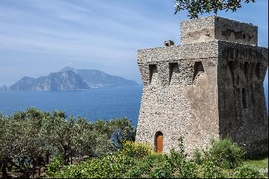 Torre degli Amalfi, a 16th century tower overlooking the Gulf of Naples