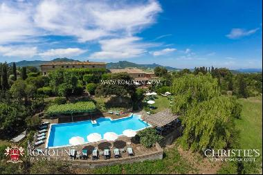 Tuscany - TYPICAL TUSCAN FARMHOUSE, AGRITURISMO FOR SALE, VOLTERRA