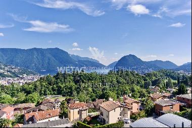 Building plot with Lake Lugano view in prestigious residential area for sale