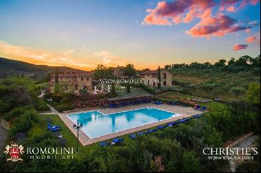 Chianti - 80 HA ESTATE WITH WINE RESORT AND VINEYARD FOR SALE IN TUSCANY