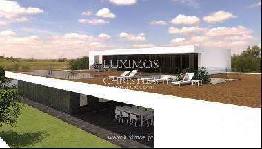 Approved project for a modern villa with sea view in Olhão, Algarve, Portugal