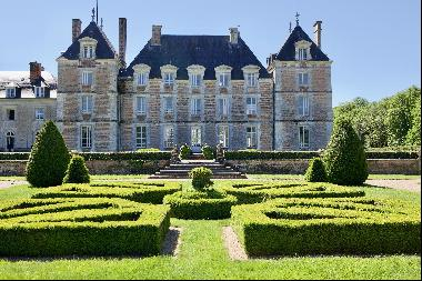 An exceptional listed Louis XIII style chateau set in 40 enclosed hectares with formal Fr