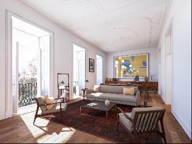 2+1 bedroom apartment, with a strategic location, in front of the D. Luís I square´s gard