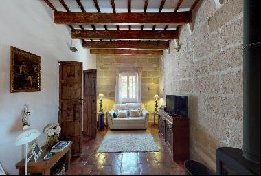 Traditional Menorcan house in the village of Sant Climent