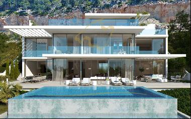 New built villa in Port Andratx with sea view for sale