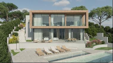Project for a minimalist villa with sea views